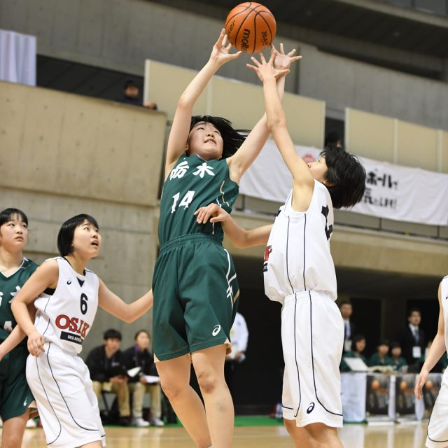 女子・準決勝 大阪府 ○ 64-35 ● 栃木県